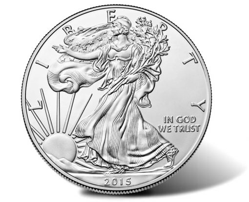 2015-W Uncirculated American Silver Eagle, Obverse