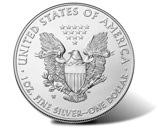 2015-W Uncirculated American Silver Eagle, Reverse