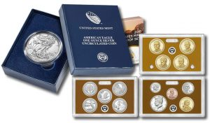 2015-W Uncirculated Silver Eagle and 2015 Proof Set