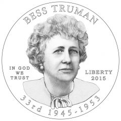 Bess Truman First Spouse Gold Coin Obverse Design