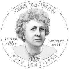 Bess Truman First Spouse Gold Coin Obverse Design