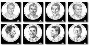 Ronald Reagan Presidential $1 Coin Design Candidates