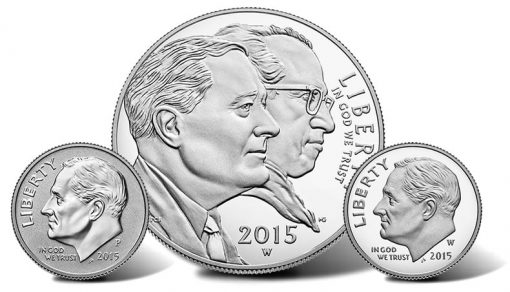 Coins in 2015 March of Dimes Special Silver Set