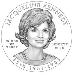 Jacqueline Kennedy First Spouse Gold Coin Obverse Design
