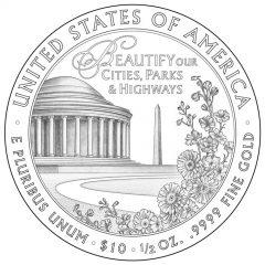 Lady Bird Johnson First Spouse Gold Coin Reverse Design