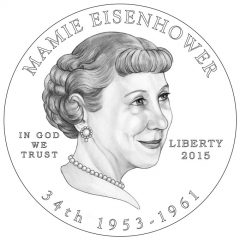 Mamie Eisenhower First Spouse Gold Coin Obverse Design