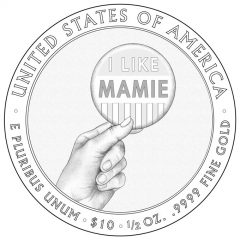 Mamie Eisenhower First Spouse Gold Coin Reverse Design