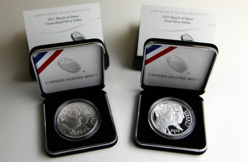 March of Dimes Silver Dollars - Uncirculated, Proof and Certs-a