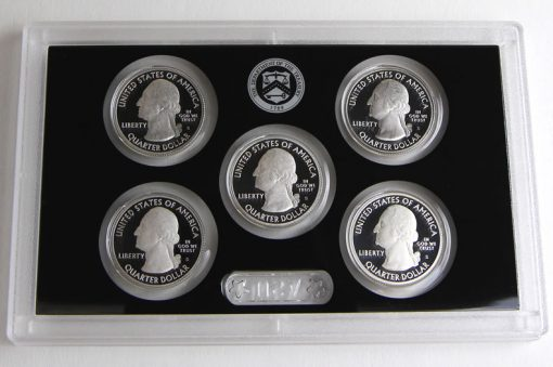 Photo of 2015 America the Beautiful Quarters Silver Proof Set, Obverses