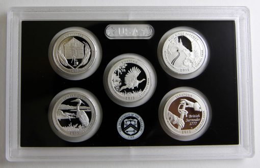 Photo of 2015 America the Beautiful Quarters Silver Proof Set, Reverses