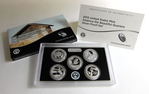 Photo of 2015 America the Beautiful Quarters Silver Proof Set and Packaging