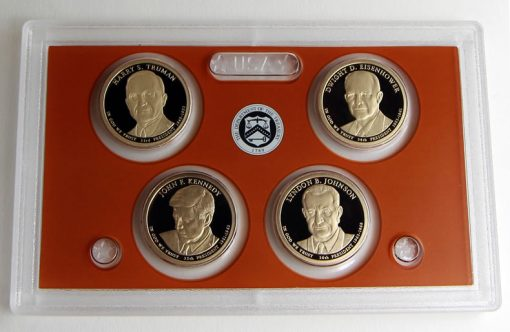 Photo of 2015 Presidential $1 Coin Proof Set - Lens and Coins, Obverses