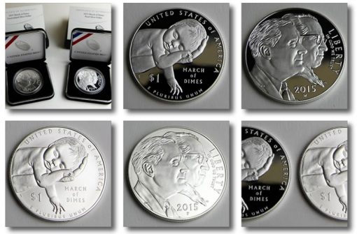 Photos of March of Dimes Silver Dollars