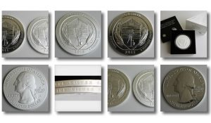 Homestead Five Ounce Silver Coin Photos