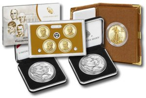 Presidential $1 Proof Set, March of Dimes $1s and Proof Gold Eagles
