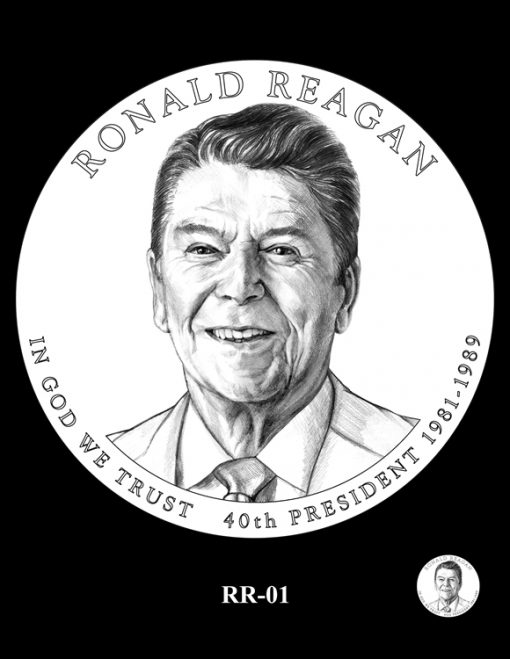 Ronald Reagan Presidential $1 Coin, Design Candidate RR-01