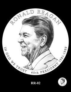 Ronald Reagan Presidential $1 Coin, Design Candidate RR-02