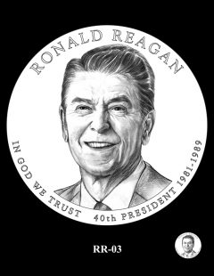 Ronald Reagan Presidential $1 Coin, Design Candidate RR-03
