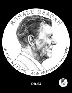 Ronald Reagan Presidential $1 Coin, Design Candidate RR-04