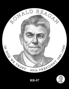 Ronald Reagan Presidential $1 Coin, Design Candidate RR-07