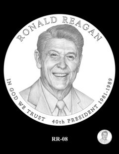 Ronald Reagan Presidential $1 Coin, Design Candidate RR-08