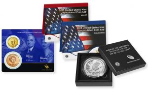 $1 and Medal Set, Mint Set and Kisatchie 5 oz coin