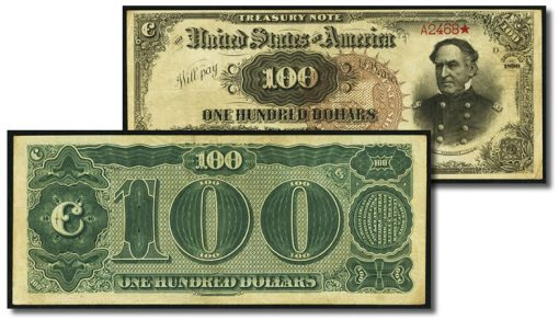 $100 1890 Watermelon Note