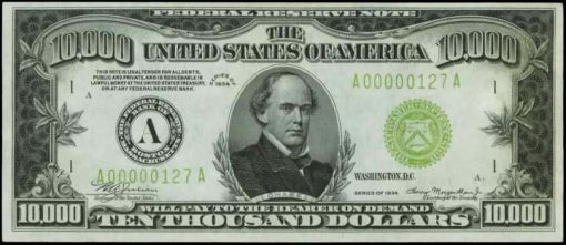 1934 $10,000 Federal Reserve Note from Boston