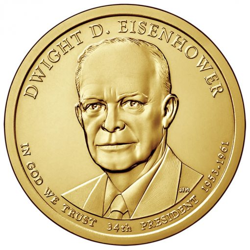 20145 Dwight D. Eisenhower Presidential $1 Coin