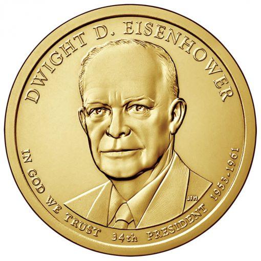20145 Dwight D. Eisenhower Presidential $1 Coin