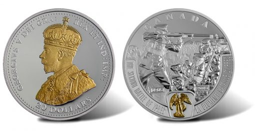 2015 $20 Second Battle of Ypres Silver Coin