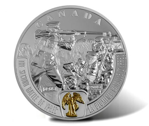 2015 $20 Second Battle of Ypres Silver Coin, Reverse