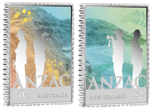 2015 ANZAC Rectangular Silver Coins