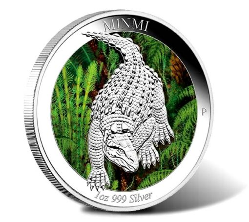 2015 Australian Age of Dinosaurs Minmi Silver Proof Coin