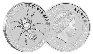 2015 Australian Funnel-Web Spider Silver Bullion Coin