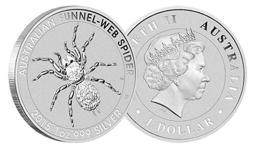 2015 Australian Funnel-Web Spider Silver Bullion Coin