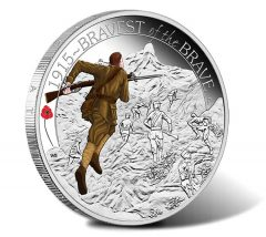 2015 Bravest of the Brave Silver Proof Coin