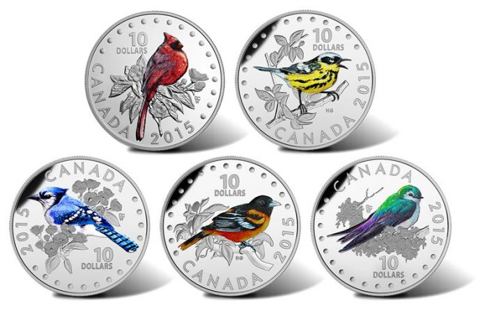 2015 Colorful Songbirds of Canada Silver Coins
