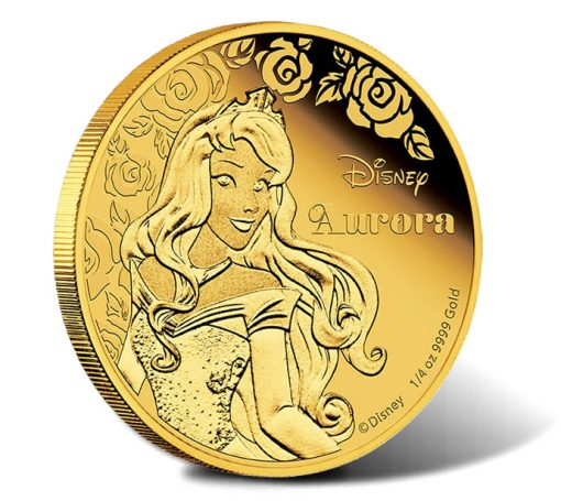 2015 Disney Princess Aurora Gold Proof Coin
