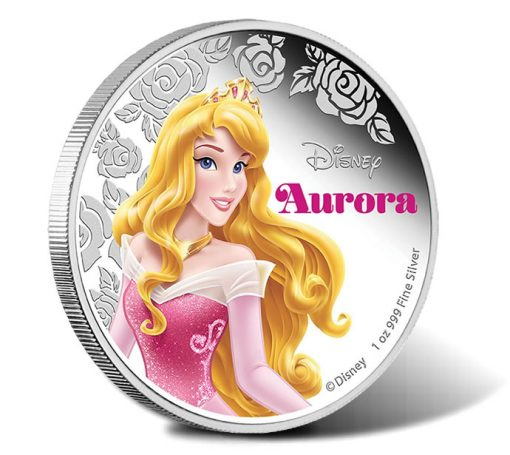 2015 Disney Princess Aurora Silver Proof Coin