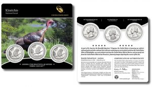 Three-Coin Set of 2015 Kisatchie National Forest Quarters
