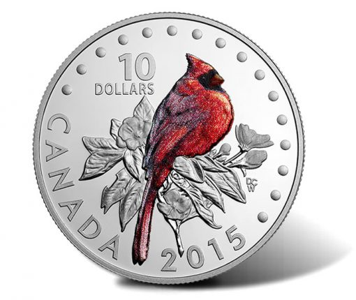 2015 Northern Cardinal Silver Coin from Songbirds of Canada Series