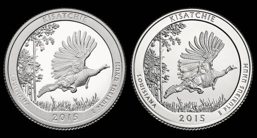 2015 Proof and Uncirculated Kisatchie National Forest Quarters