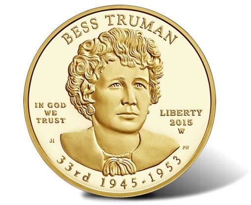 2015-W $10 Proof Bess Truman First Spouse Gold Coin - Obverse