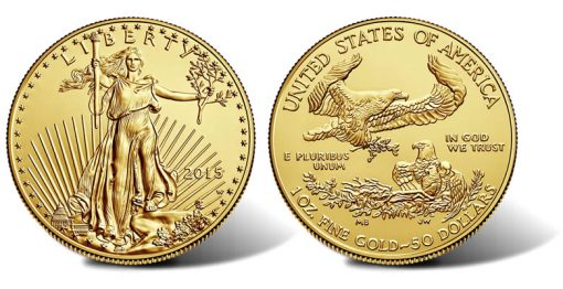 2015-W $50 Uncirculated American Gold Eagle - Obverse and Reverse