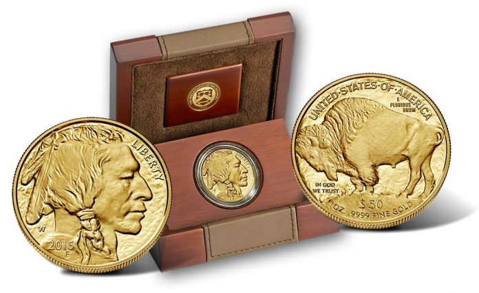 2015-W Proof American Gold Buffalo and Case