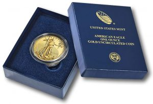 2015-W Uncirculated American Gold Eagle and Case
