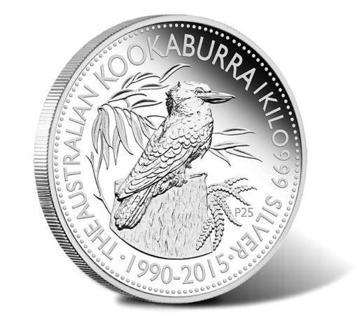 25th Anniversary Australian Kookaburra 2015 1 Kilo Silver Proof Coin