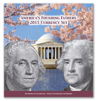 America's Founding Fathers 2015 Currency Set