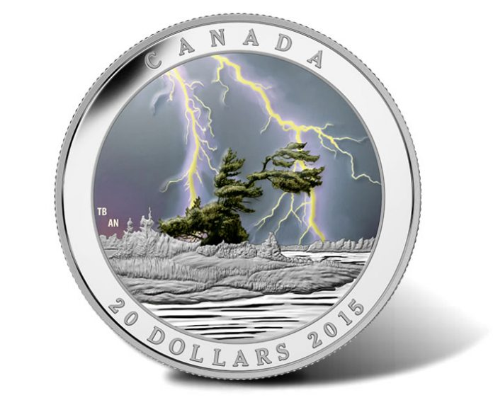 Canadian 2015 $20 Summer Storm 1 Oz Silver Coin
